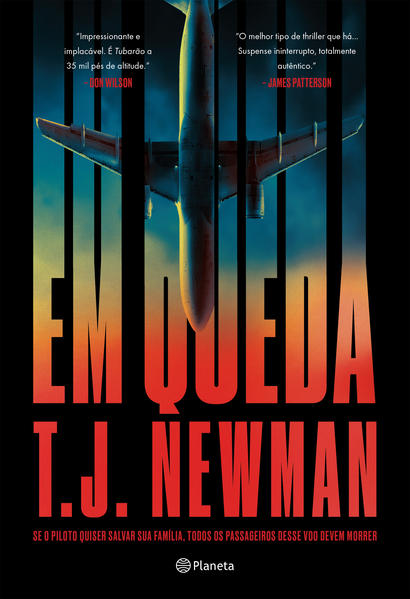 Em queda. Se o piloto quiser salvar sua família, todos os passageiros desse voo devem morrer, livro de T. J. Newman