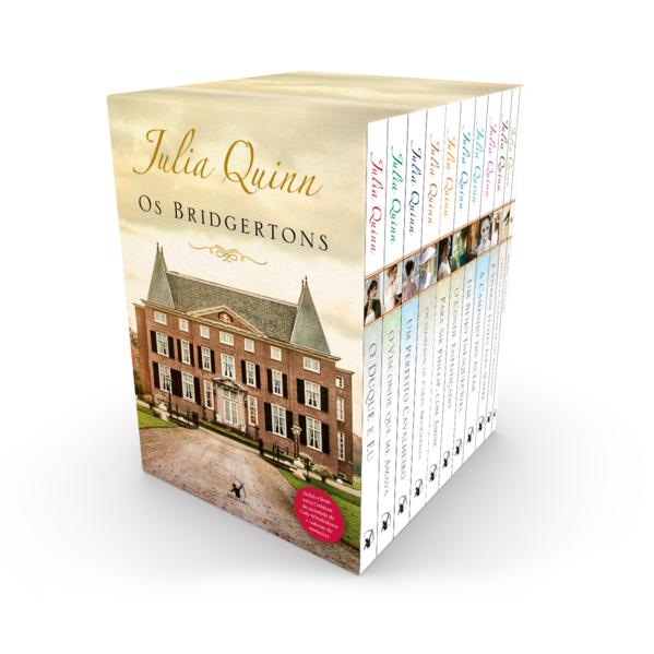 Box Os Bridgertons: 9 títulos da série + livro extra de crônicas + caderno de anotações, livro de Julia Quinn