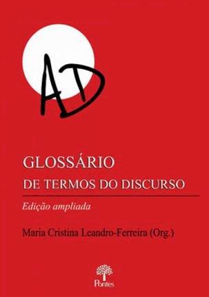 Glossário de termos do discurso, livro de Maria Cristina Leandro-Ferreira