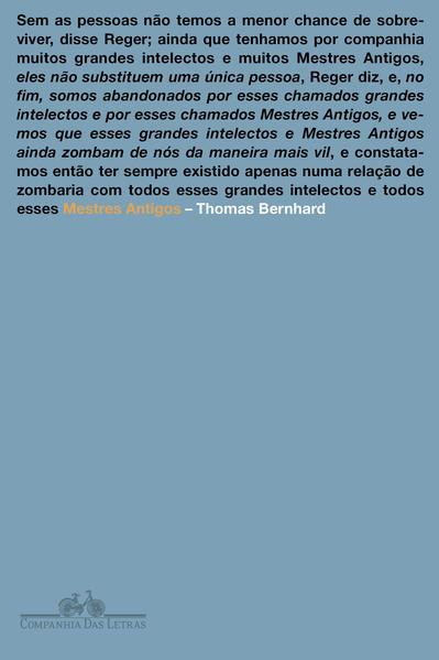 Mestres Antigos, livro de Thomas Bernhard