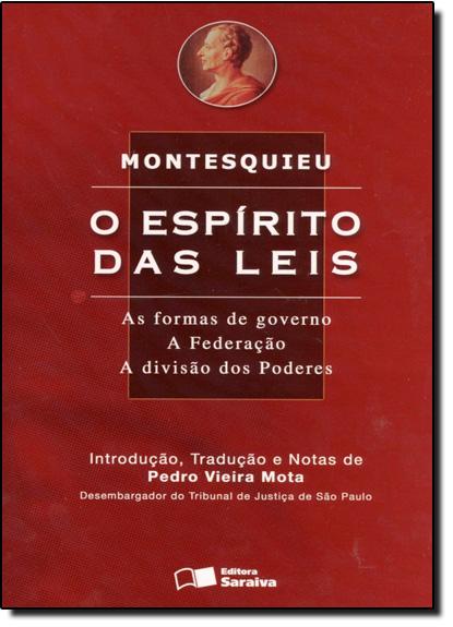 Espirito das Leis as Formas de Governo, O, livro de Montesquieu