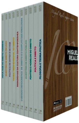 BOX CENTENARIO MIGUEL REALE - COM DEZ DAS PRINCIPAIS OBRAS DA VASTA PRODUCAO LITERARIA DO AUTOR - 10, livro de REALE, MIGUEL