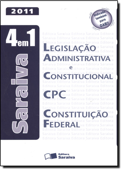 Legislação Administrativa e Constitucional, C P C e Constituição Federal - 4 em 1, livro de Editora Saraiva