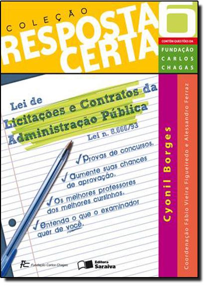 Crc V06 Licit Cont Adm Publica, livro de Cyonil Borges