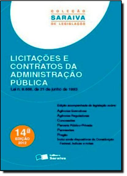Licitações e Contratos da Administração Pública, livro de Editora Saraiva