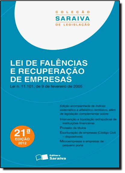 Lei de Falências e Recuperação de Empresas, livro de Editora Saraiva