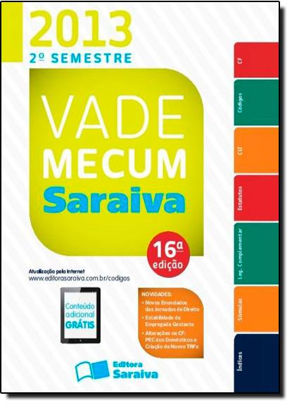Vade Mecum Saraiva 2013, livro de Editora Saraiva