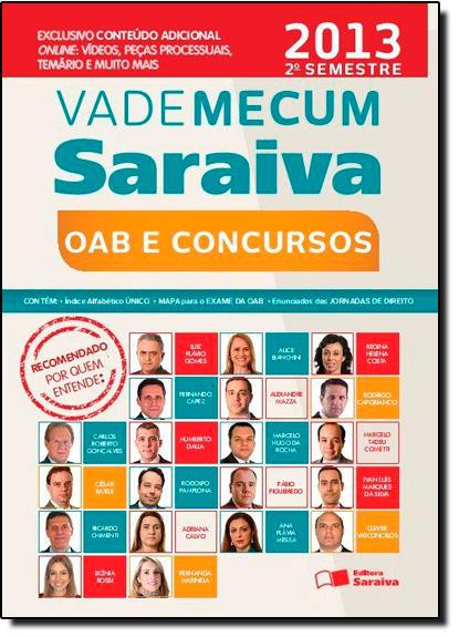 Vade Mecum Saraiva Oab e Concursos - 2013, livro de Editora Saraiva