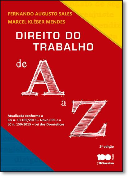 Direito do Trabalho de A a Z, livro de Fernando Augusto Sales