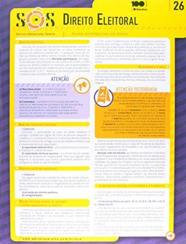 Sos: Direito Eleitoral - Vol.26, livro de Editora Saraiva