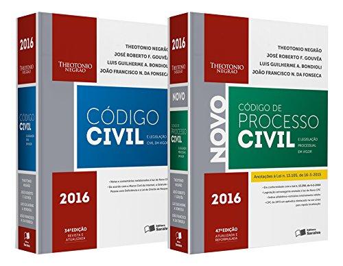 Combo Código Civil e Legislação Civil em Vigor + Código de Processo Civil e Legislação Processual em, livro de Theotonio Negrão