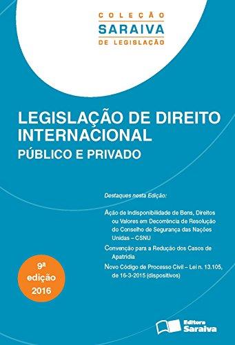 Legislação de Direito Internacional, livro de Editora Saraiva