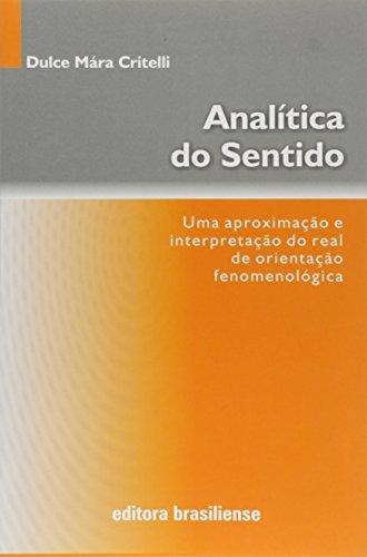 Analítica do Sentido, livro de Dulce Maria Critelli