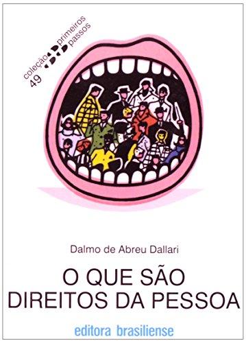 O Que São Direitos Da Pessoa - Coleção Primeiros Passos, livro de Dalmo Abreu Dallari