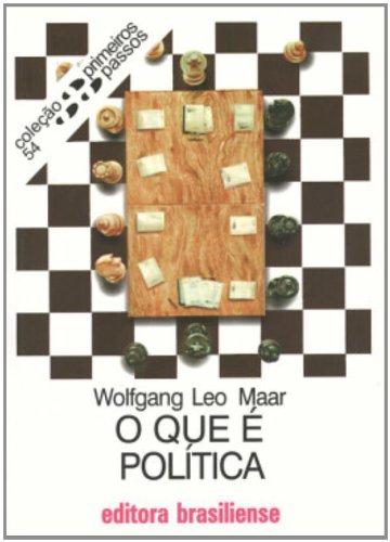 O Que E Politica - Coleção Primeiros Passos, livro de Wolfgang Leo Maar