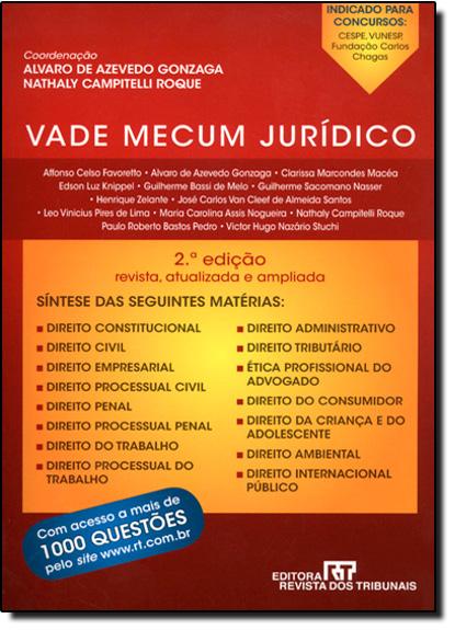Vade Mecum Juridico, livro de Alvaro de Azevedo Gonzaga | Nathaly Campitelli Roque