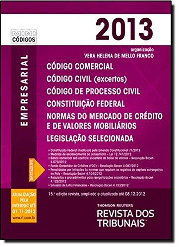 RT Mini Código 2013. Código Comercial, Código De Processo Civil, Constituição Federal, livro de Vários Autores