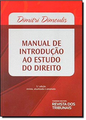 Manual De Introdução Ao Estudo Do Direito, livro de Dimitri Dimoulis