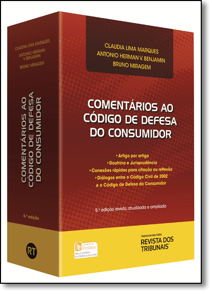 Comentários ao Código de Defesa do Consumidor, livro de Cláudia Lima Marques