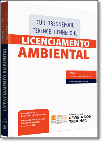 Licenciamento Ambiental, livro de Terence Dorneles Trennepohl