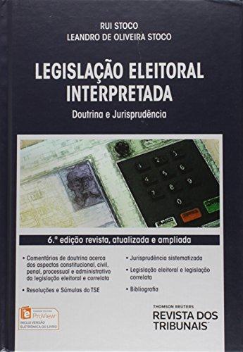 Legislação Eleitoral Interpretada, livro de Rui Stoco