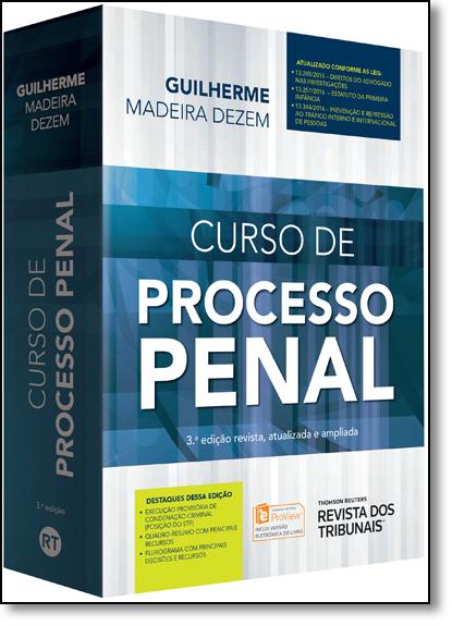 Curso de Processo Penal, livro de Guilherme Madeira Dezem
