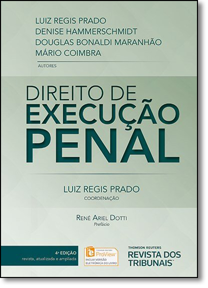 Direito de Execução Penal, livro de Luiz Regis Prado