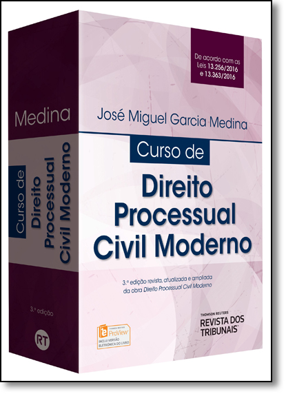 Curso de Direito Processual Civil Moderno, livro de José Miguel Garcia Medina