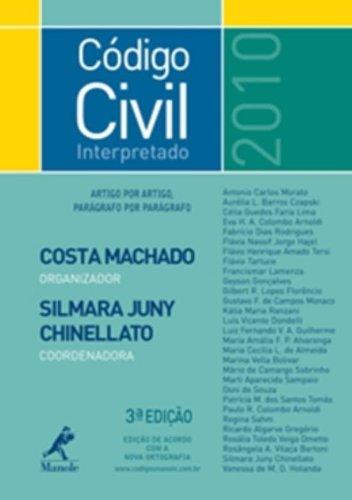 Código Civil Interpretado – 3ª edição, livro de MACHADO, ANTONIO CLAUDIO DA COSTA