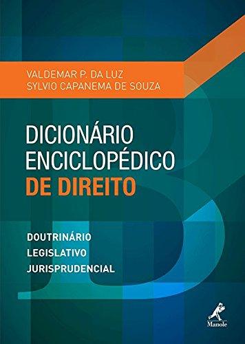 Dicionário enciclopédico de Direito, livro de Luz, Valdemar P. da / Souza, Sylvio Capanema de
