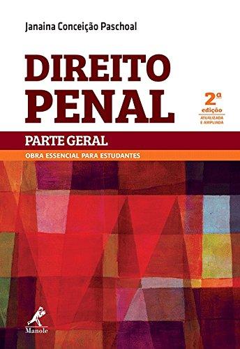 Direito Penal-Parte Geral, livro de Paschoal, Janaina Conceição