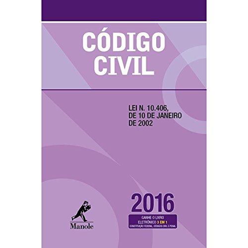 Código Civil, livro de Editoria Jurídica da Editora Manole