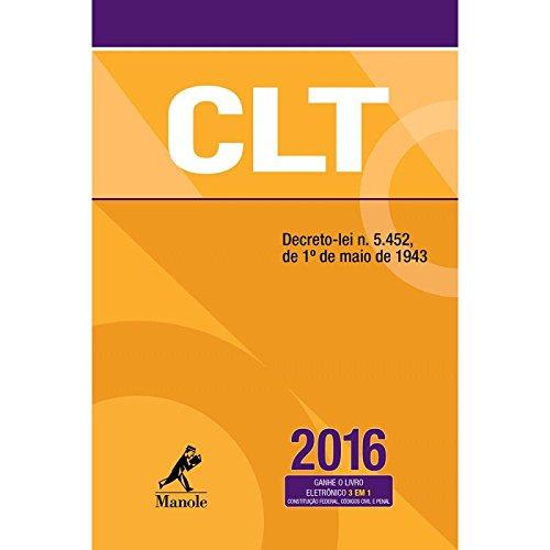 CLT, livro de Editoria Jurídica da Editora Manole