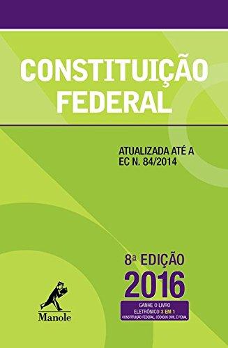 Constituição Federal, livro de Editoria Jurídica da Editora Manole