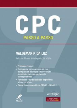 CPC Passo a Passo - Código de Processo Civil - 4ª edição, livro de Valdemar P. da Luz