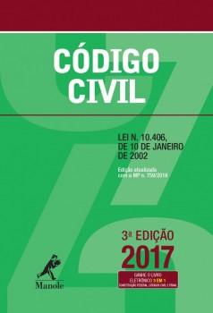 Código Civil - lei N. 10.406, de 10 de janeiro de 2002 - 3ª edição, livro de EDITORIA JURÍDICA DA EDITORA MANOLE Códigos Manole