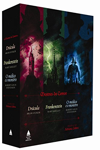 Box do Terror. Frankenstein, Drácula e o Médico e o Monstro, livro de Bram Stoker, Mary Shelley, Robert Louis Stevenson