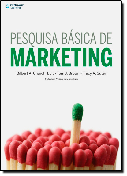 Pesquisa Básica de Marketing, livro de Gilbert A. Churchill | Tom J. Brown | Tracy A. Suter