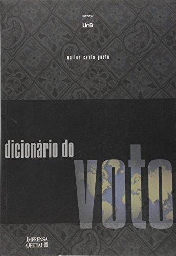 DICIONARIO DO VOTO, livro de Celmo Celeno Porto