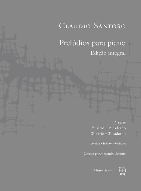 Prelúdios para piano (edição integral), livro de Claudio Santoro