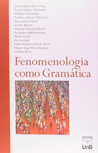 Fenomenologia Como Gramática, livro de Jesús Padilla Galvez