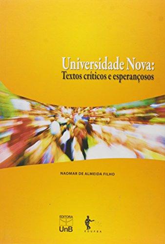 Universidade nova, livro de ALMEIDA FILHO, Naomar.