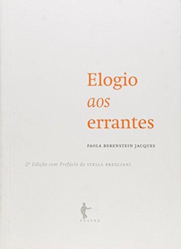 Elogio Aos Errantes, livro de Paola Berenstein Jacques
