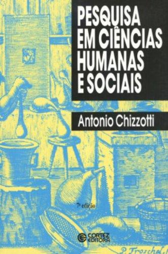 Pesquisa em ciências humanas e sociais, livro de Antonio Chizzotti