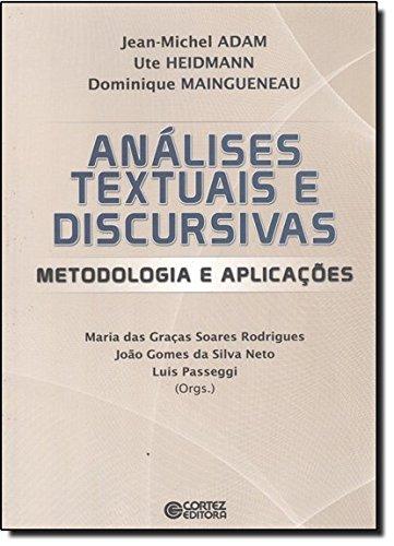 Análises textuais e discursivas - Metodologia e aplicações, livro de João Gomes da Silva Neto