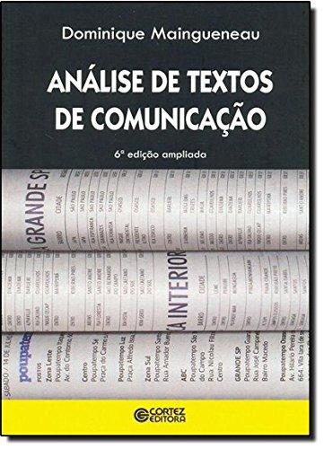 Análise de textos de comunicação, livro de Dominique Maingueneau