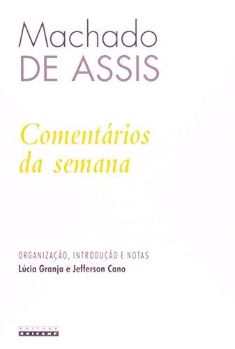 COMENTARIOS DA SEMANA, livro de Machado Assis
