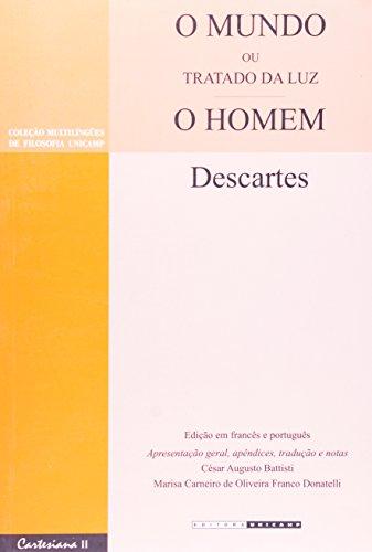 O mundo ou Tratado da luz e O homem, livro de René Descartes