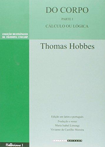 Do Corpo - Cálculo ou Lógica, livro de Thomas Hobbes