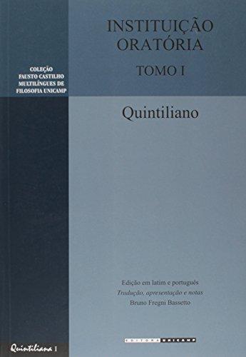 Instituição oratória - Tomo I, livro de Quintiliano